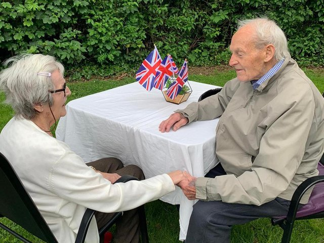 Minnie and Patrick Speed, from Hull, East Yorkshire, who were reunited after being separated for more than a year due to the pandemic