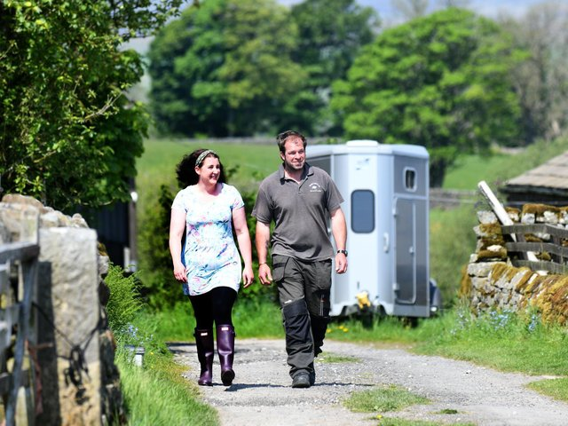 Richard and Louise Pullan on their diversified farm in the Washburn Valley