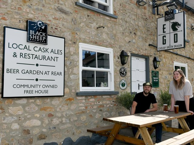 Landlords Tom and Becci Baker are accountable to the village committee who now own the pub