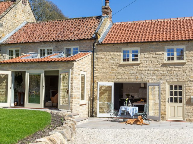 The cottage in Ampleforth has been renovated and extended and is now a dog-friendly holiday let