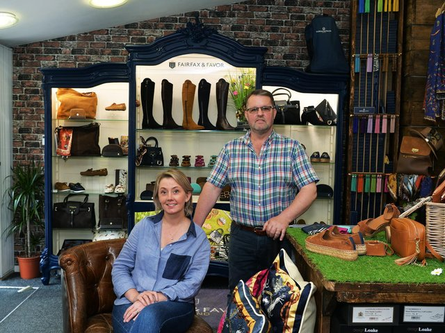 Shoe boutique owners Richard and Michelle Smith have confidence in Doncaster and eschewed opening their business in Leeds or York