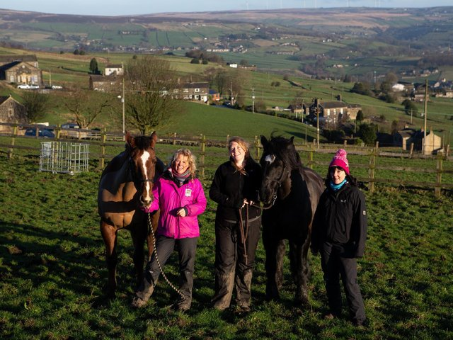 Sarah Kekoa, Nicki Hall and Amanda Oates, setting on on a charity walk from Sowerby to Oxenhope last year, for the I choose life foundation