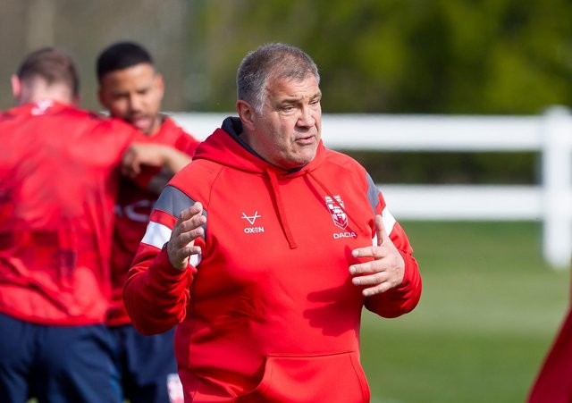Shaun Wane leads his one and only training session in 16 months at Leeds Beckett University back in April (Picture: Allan McKenzie/SWPix.com)