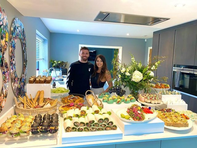 Leeds United's Stuart Dallas and his wife, Juneve, approached the firm to provide the catering for his 30th