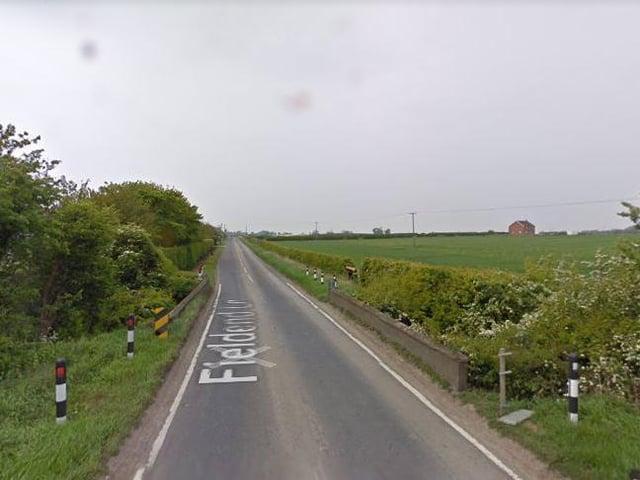 Fieldend Lane in Burton Pidsea, East Yorkshire.