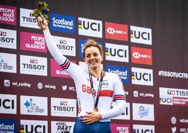 Katy Marchant of Great Britain wins Gold in the Women's Keirin in Glasgiow in 2019 (Picture: Alex Whitehead/SWpix.com)