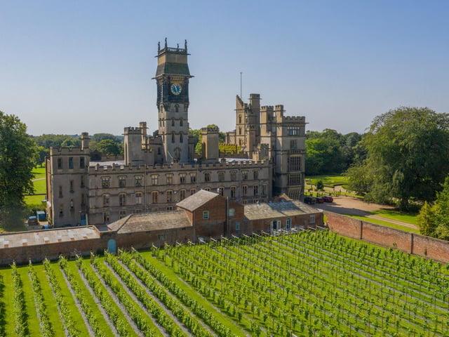 The walled vineyard at Carlton Towers.