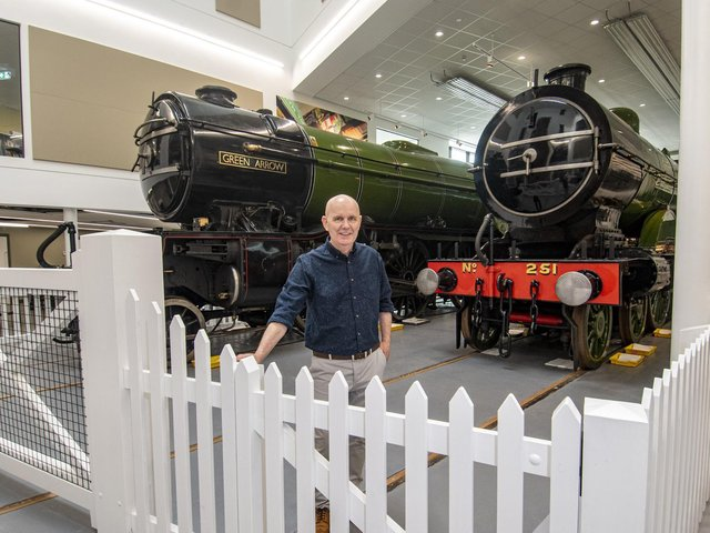 Bill McHugh in the Danum Rail Heritage Gallery at the new Danum Gallery, Library and Museum in Doncaster.  Picture Tony Johnson