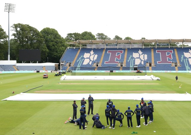 Ready to attract the crowds: Sri Lanka players during the nets session at Sophia Gardens, Cardiff. Picture: PA