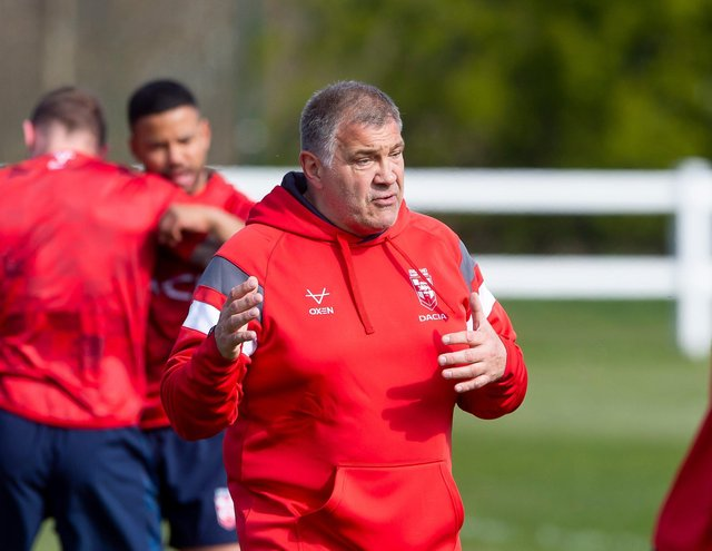 Wait and see: England coach Shaun Wane. Picture by Allan McKenzie/SWpix.com
