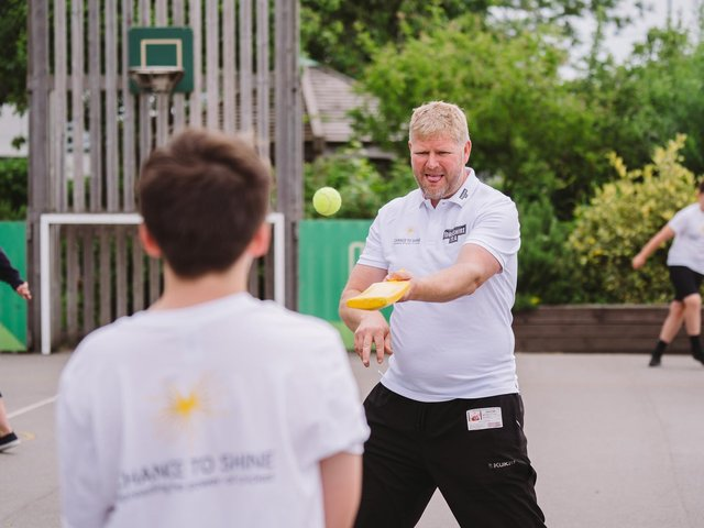Matthew Hoggard returned to the Yorkshire town where he grew up  (Picture: Barnaby Aldrick)