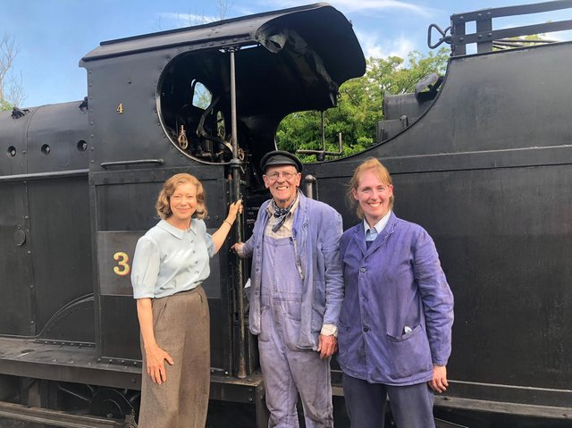 Former child star Jenny Agutter, now 68, meets driver Nicholas Hellewell and his daughter Frances Hartley