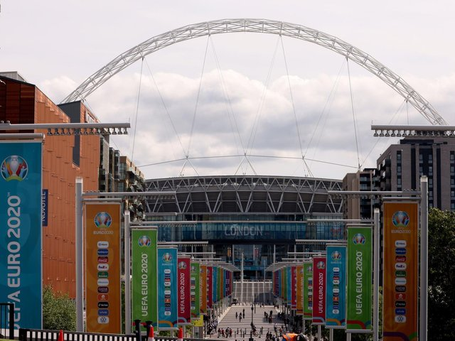 FINAL VENUE: Wembley will host the end of Euro 2020 as planned