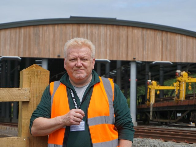 Civil engineer Tim Bruce has come out of retirement to manage the infrastructure at the North Yorkshire Moors Railway