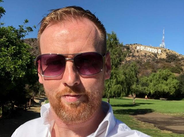 Yorkshire director Jordan Hogg in Hollywood.
