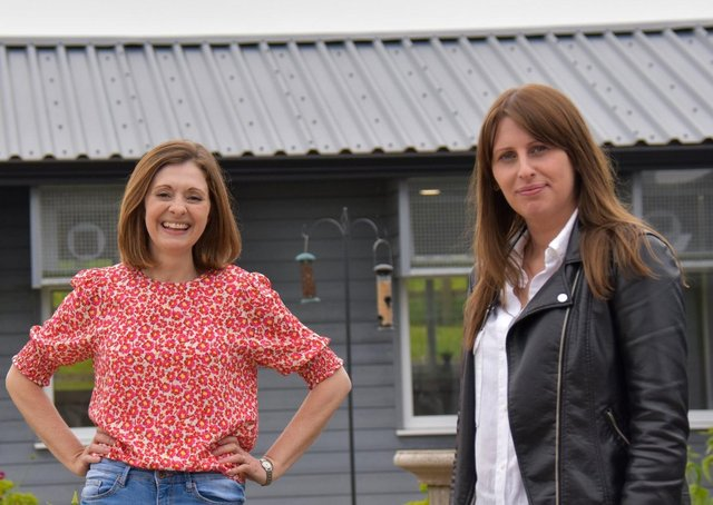Jennifer Ryder, founder of the Cawthorne Cat Hotel (left) and Launchpad business adviser, Nicole Harte.