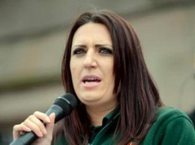 Former deputy leader of Britain First Jayda Fransen