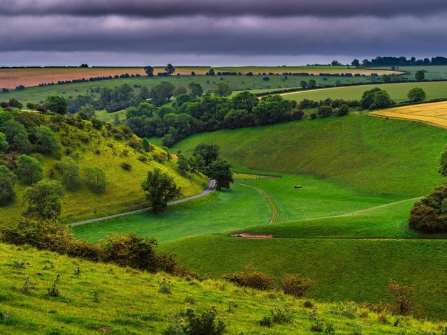 The unique landscape of the Wolds around Thixendale, of a former Yorkshire glacier carved out by meltwaters some 12,000 years ago.