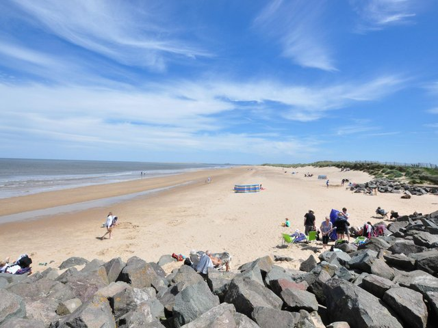 Brancester beach, one of the many great beaches in Norfolk.