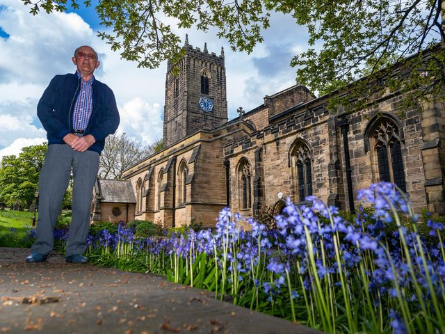 Brian Pearson, Chairman of The Fabric Group of Thornhill Parish Church infront of Thornhill Parish Church. Image: James Hardisty