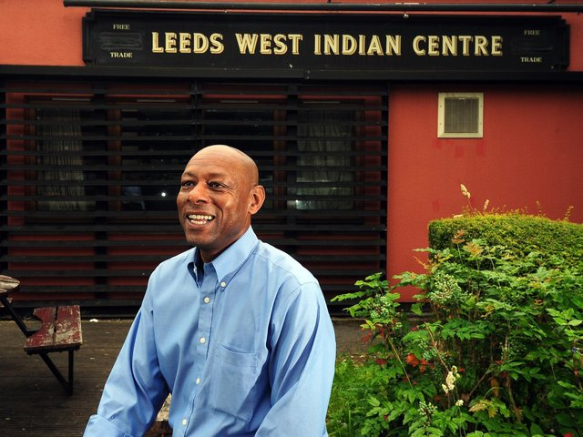 Claude Hendrickson outside Leeds West Indian Centre in 2017. Picture: Simon Hulme.