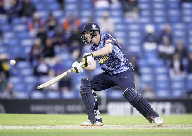 Quickfire: Viking's Harry Brook hits out against the Rapids on his way to 83 from 54 balls. Picture by Allan McKenzie/SWpix.com