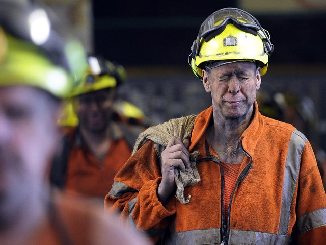 Under a privatisation deal in 1994, 50 per cent of any surplus from the Mineworkers' Pension Scheme goes back to Government in non-ringfenced funding. The last mining colliery in Yorkshire, Kellingley, closed in 2015. Photo: PA