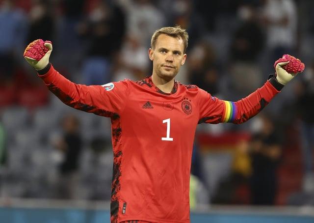 Germany's goalkeeper Manuel Neuer. (Kai Pfaffenbach/Pool via AP)