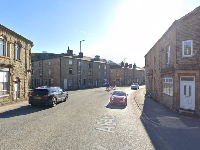 Halifax Road in Todmorden is closed between Cross Stone Road and Key Sike Lane after a crash. Photo: Google.