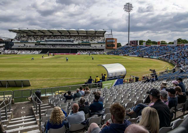 Back at Headingley: Yorkshire cricket supporters return after the easing of covid-19 restrictions.  Picture: Tony Johnson
