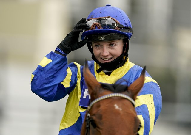 Hollie Doyle after riding Trueshan to win The Qipco British Champions Long Distance Cup during the Qipco British Champions Day at Ascot last October.