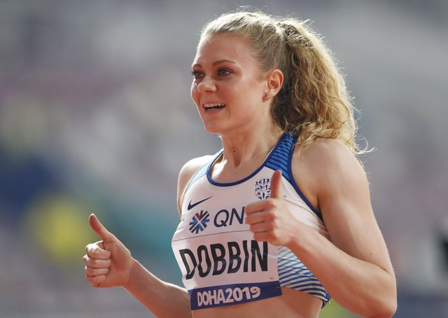 Thumbs up: Doncaster sprinter Beth Dobbin has overcome issues with epilepsy as a teenager at the start of her career and the medication she took which slowed her down, to bid for a place in Britain's Olympic Games team for Tokyo. Dobbin who runs for Scotland – her father's birthplace – takes part in the 200m heats tomorrow lunchtime. (Picture: Maja Hitij/Getty)