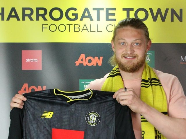 Luke Armstrong is Harrogate Town's third signing of the close season. Pictures: Matt Kirkham