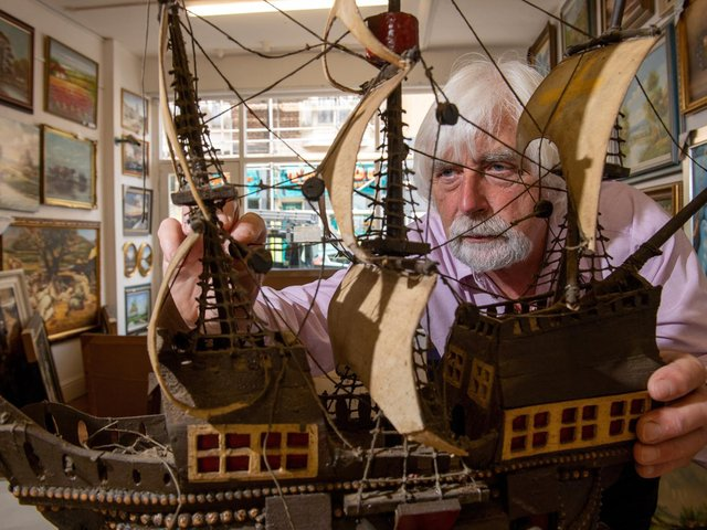 Brian Hewitt at The Ship Shop in Scarborough where he also has a taxidermy business and sells paintings. Picture Bruce Rollinson