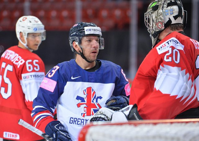 Brendan Connolly - in action for GB at the IIHF World Championships in Riga last month. Picture courtesy of Dean Woolley.