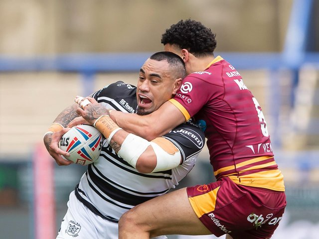 COMEBACK: Mahe Fonua scored Hull's first try as they came from behind to defeat Huddersfield Giants. Picture: Allan McKenzie/SWpix.com