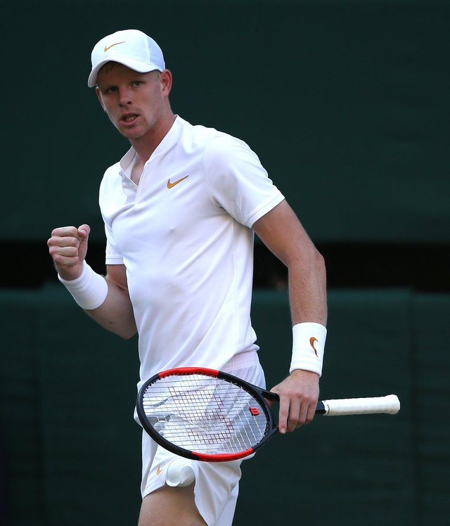 Road to recovery: Beverley tennis player Kyle Edmund is recovering from a knee operation. Picture: Steven Paston/PA.