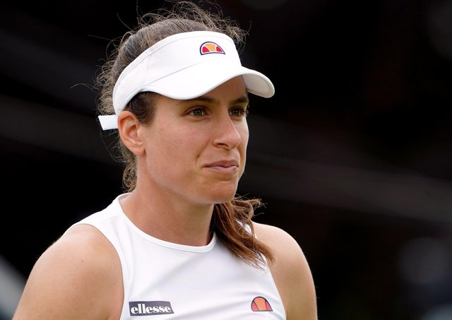 Johanna Konta has withdrawn from Wimbledon after being classified as a close contact of a positive test for Covid-19, organisers have announced. Picture: Zac Goodwin/PA Wire