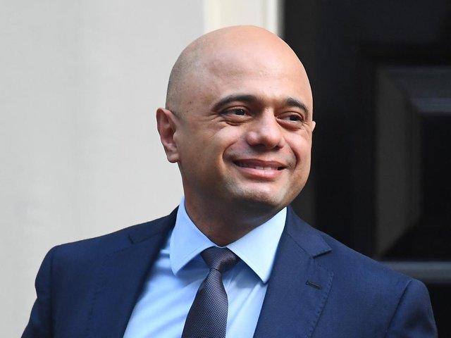 Former chancellor of the exchequer Sajid Javid, who has been appointed as Secretary of State for Health and Social Care