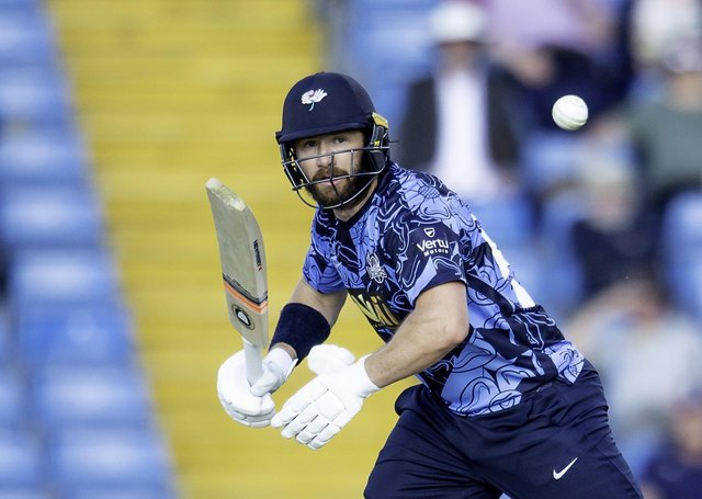 Instant impact: New Yorkshire signing Mark Stoneman hits out against Northants. Picture: SWPix