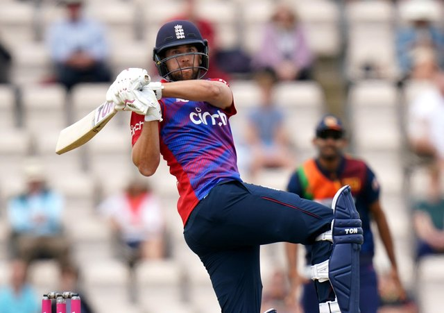 Cutting loose: England's Dawid Malan in action during the Twenty20 International match at The Ageas Bowl. Picture: PA