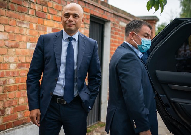 This was Sajid Javid leaving home to take up work as Health and Social Care Secretary in succession to the now disgraced Matt Hancock.