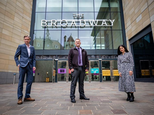 aLL ABOard: Si Cunningham, from Bradford 2025, Ian Ward, of The Broadway, and Pakeezah Zahoor, from Bradford 2025.