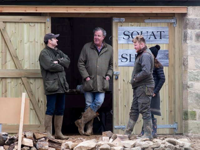 Jeremy Clarkson outside his Diddly Squat Farm Shop in Chipping Norton, Oxfordshire. Picture: Tom Wren/SWNS.