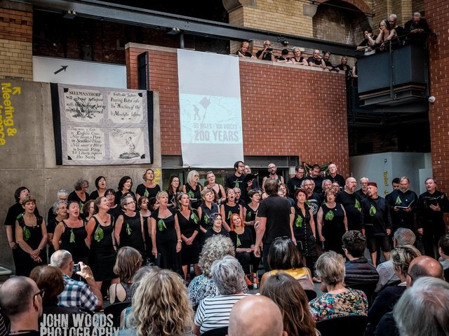 A performance by Commoners Choir. Picture: John Woods.