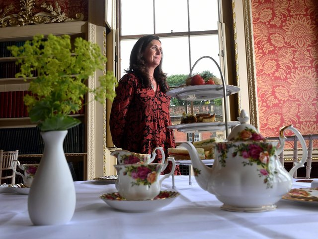 Paula Kaye in the Long Gallery at Wentworth Woodhouse