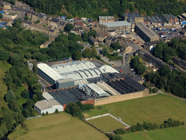 An aerial view of the Thornton & Ross site in Linthwaite