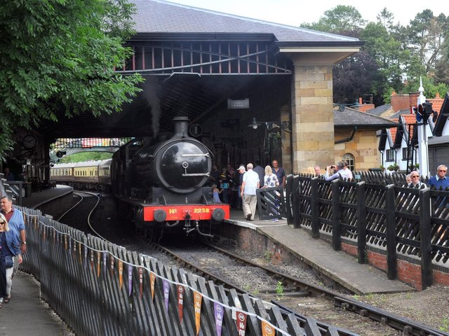 The North Yorkshire Moors Railway at Pickering Station