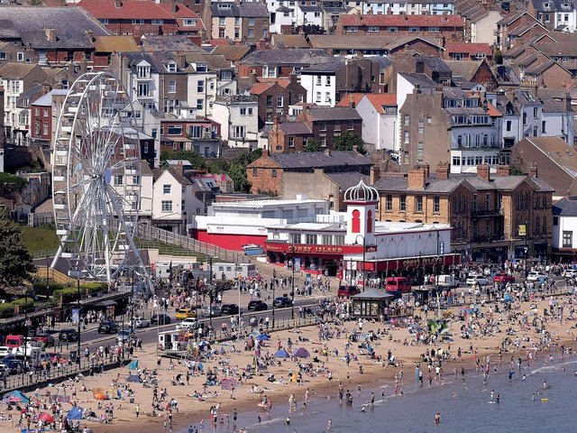Scarborough during a heatwave this summer