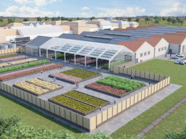 An artist's impression of how the garden centre will look